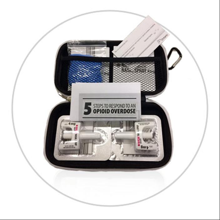 Nalaxone Kit with two nasal spray in Ottawa