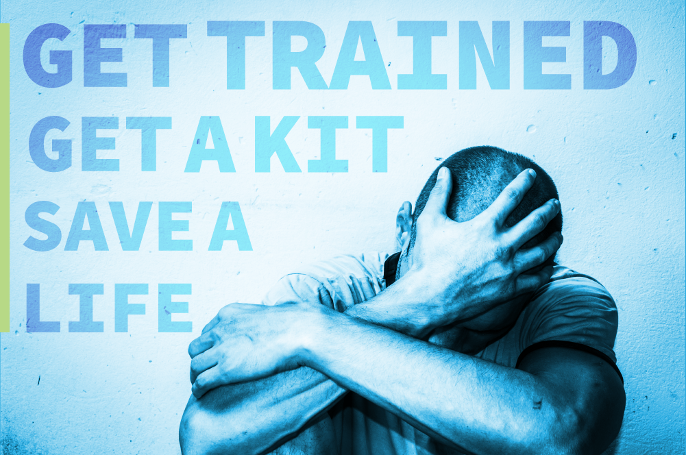 men in distress, get trained, get a kit, save a life